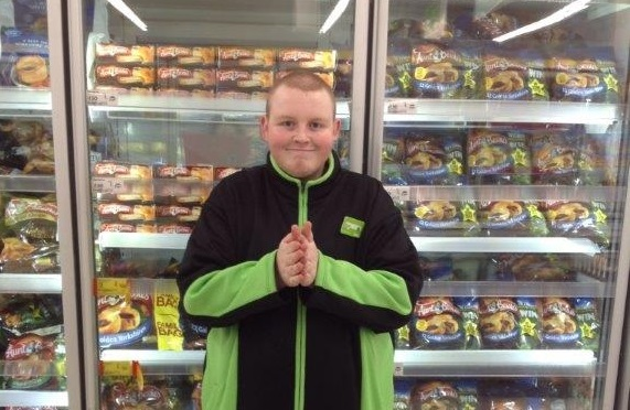 Wirral Met Supported Intern working for ASDA in an ASDA uniform