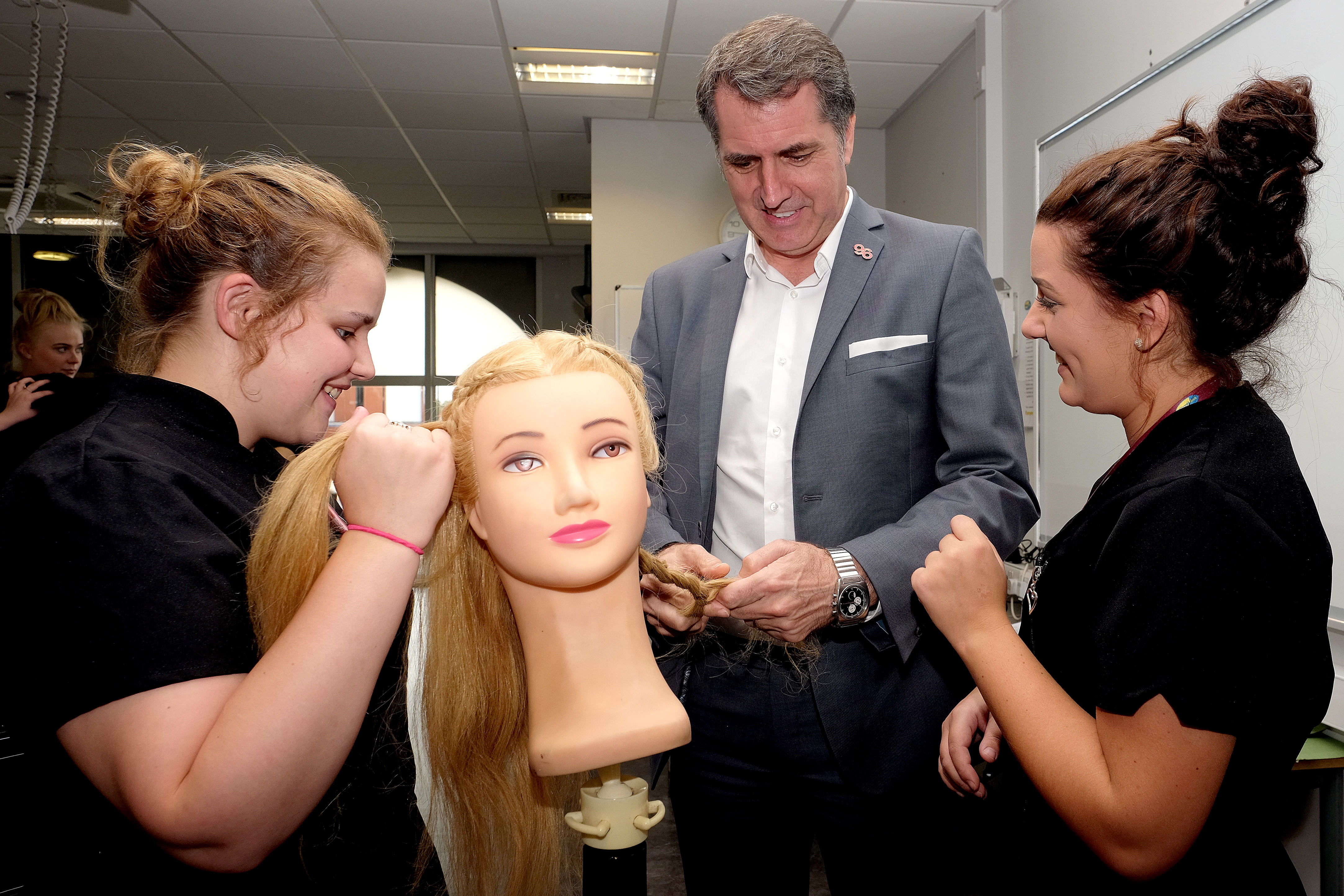 Steve Rotheram, Metro Mayor LCR, Conway Park campus, Wirral Met, Hair and Beauty