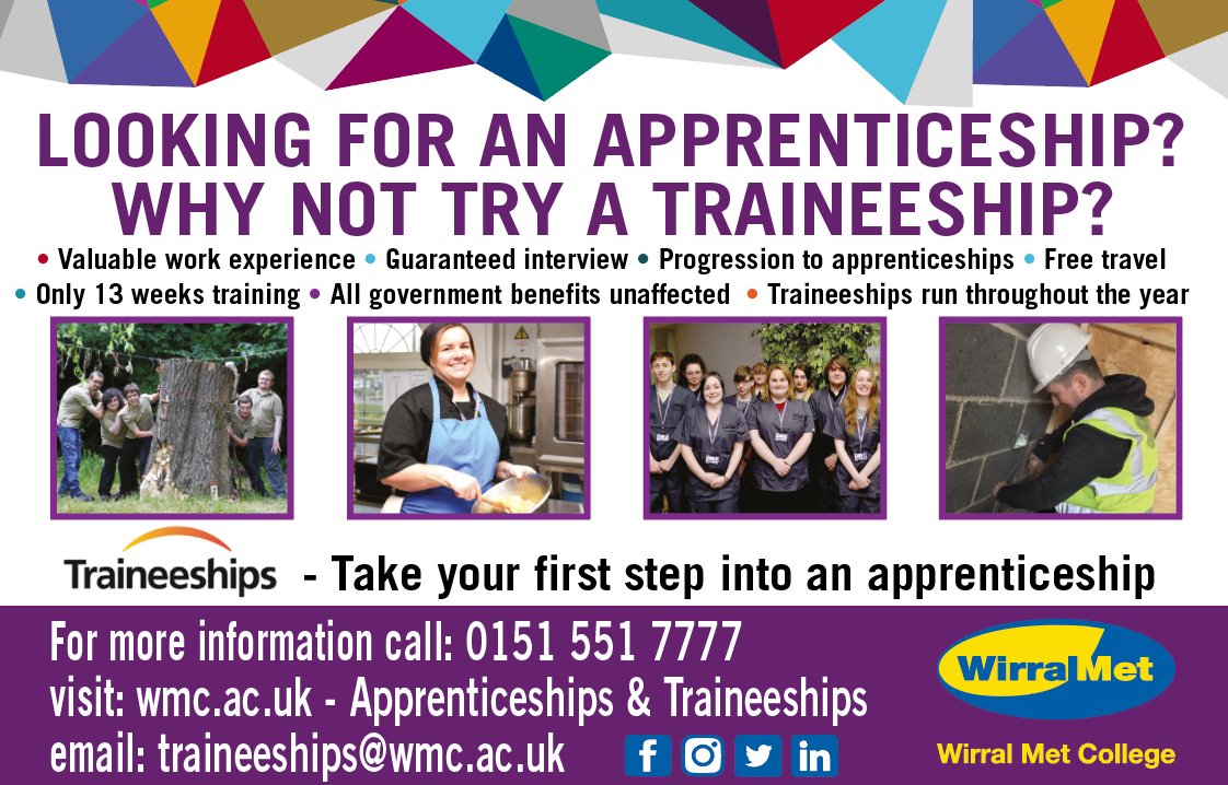 apprenticeships traineeships wirral met