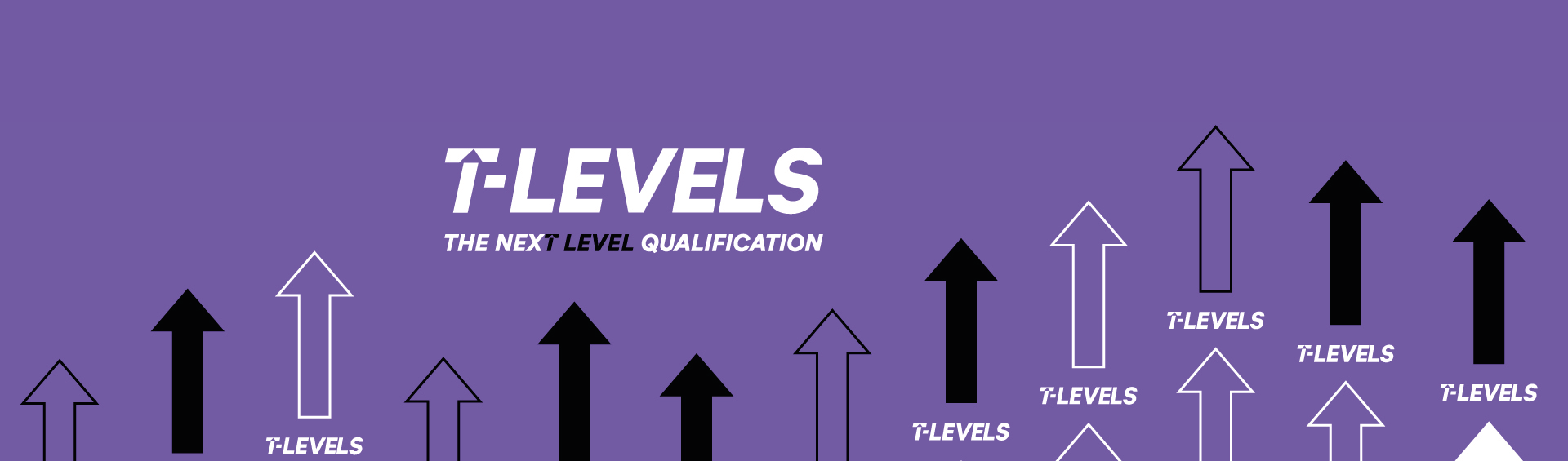 Wirral Met is introducing T Level qualifications in 2021. Red T Level branding by The Department of Education