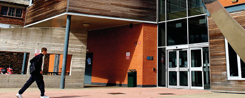 Wirral Met College Twelve Quays campus front entrance