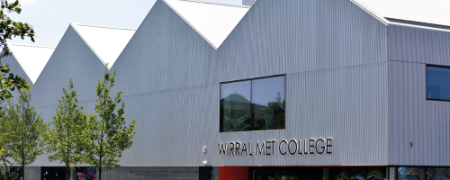 Wirral Met College Wirral Waters campus front side