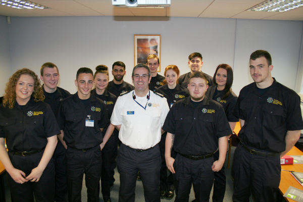 Fire & Rescue Apprentices with Deputy Chief Fire Officer
