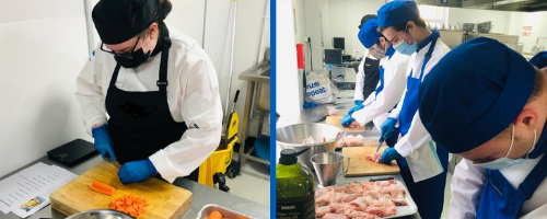 Wirral Met Catering Students Preparing Meals for Local Charity Hope for the Hungry