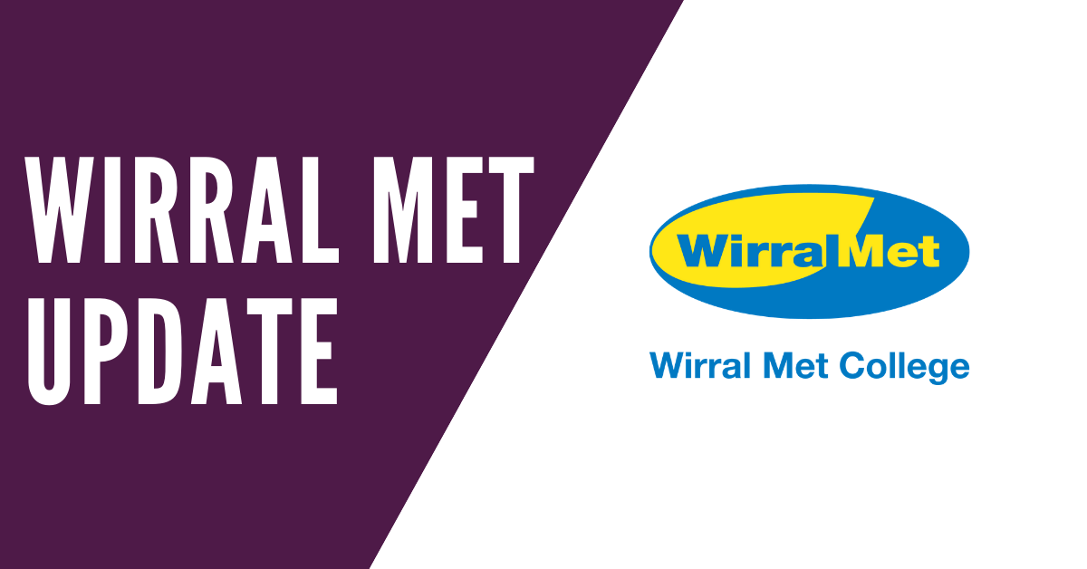 Updates and news from Wirral Met College fortnightly update Friday 22nd May 2020