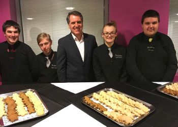 The Birches Rest students with Steve Rotheram